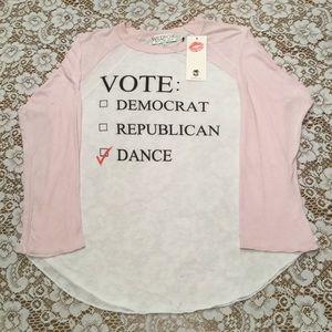 Wildfox Vote Dance Party Raglan Baseball Tee